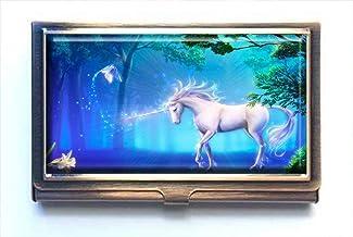 jkfgweeryhrt Mystic Unicorn Custom Portable Business Bank Name Card Case Holder Box Pocket Credit Card ID Wallet