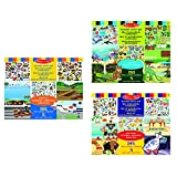 Melissa & Doug 19115 Wiederbenutzbarer Stickerblock Abenteuer (245 Sticker) + | Wiederbenutzbarer Stickerblock - Habitate | Aktivitätenblöcke | 3+ years + Melissa & Doug 14199 Fahrzeuge...