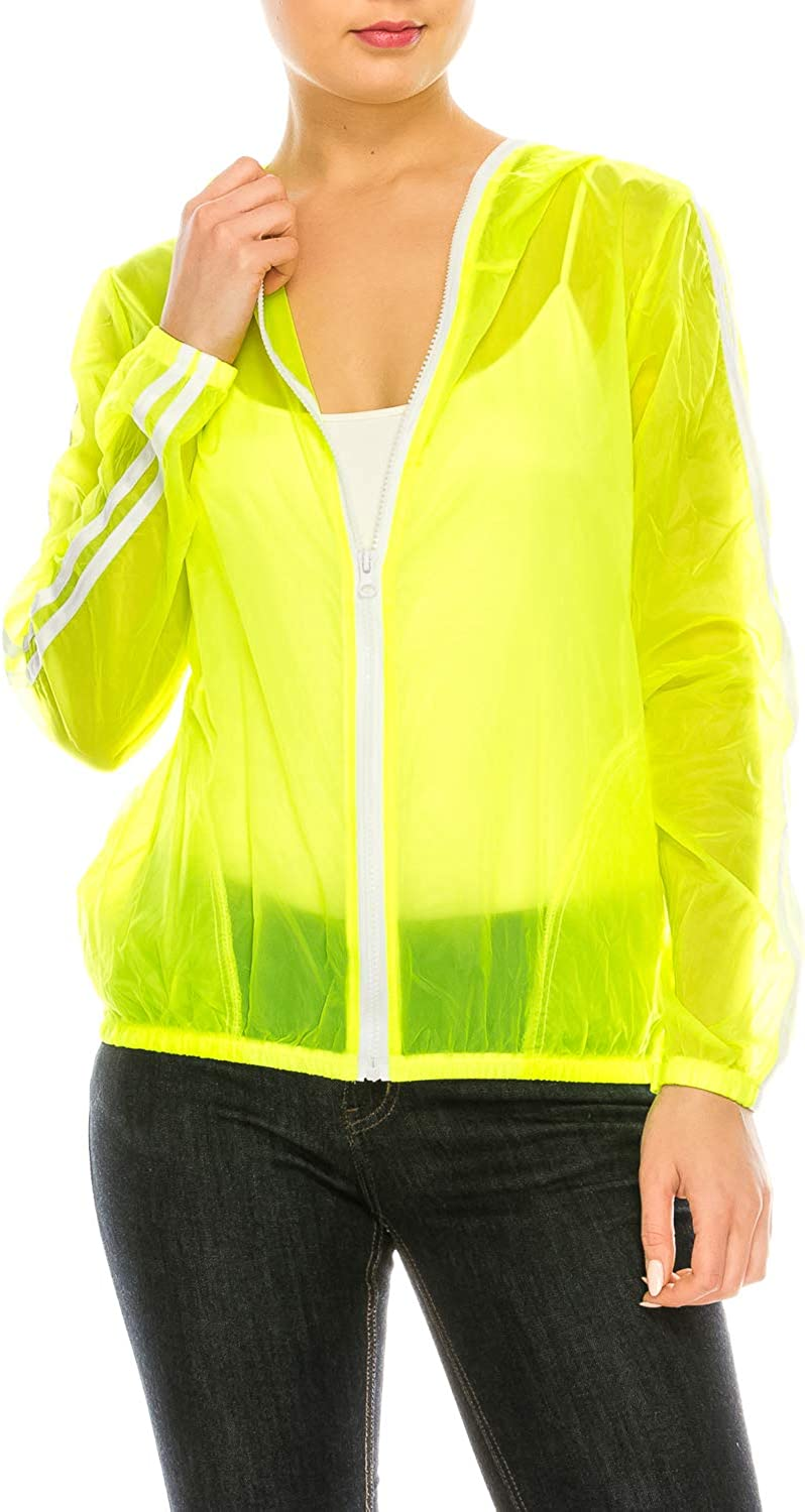 Lightweight Casual Hooded Neon Windbreaker Jacket | Sun Protection | Packable and Portable…
