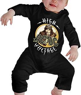 CalvinSEllis ACDC Unisex Baby Crawler Babys Bodysuit Long Sleeve Romper Jumpsuit Clothes Cotton 0-24 Months