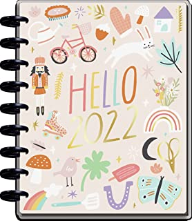 $29 » The Happy Planner Daily 12 Month Planner – January 2022 – December 2022 – Daily, Weekly & Monthly Disc-Bound Pages – Color...