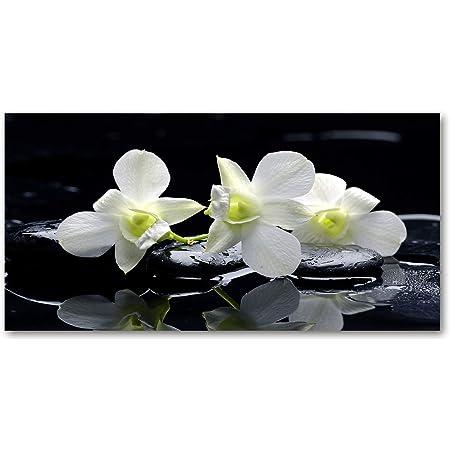 Glasbild Wandbild GLX12567442359 Orchidee Blumen 125 x 50cm