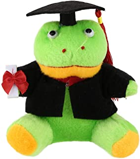 Lumumi Graduation Plush Toy, Unique Graduation Gift Toy with Cap and Gown (A)