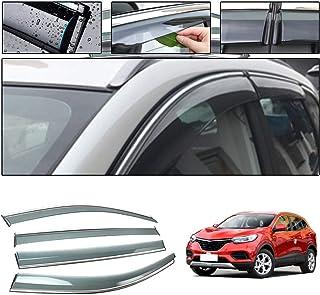 BTSDLXX 4Pcs Coche Deflectores Viento Ventana Window Visor para Renault Kadjar 2016 2017 2018 Visera de Ventana Guardia Sol Lluvia Oscuro Humo Sombra de Ventilaci/ón Accesorios de Auto
