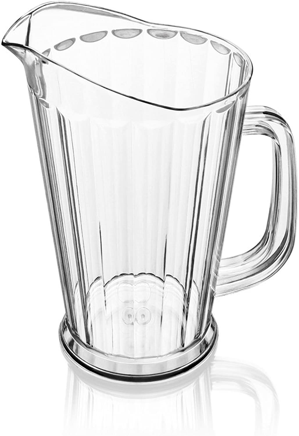 New Star Foodservice 46151 Polycarbonate Plastic Tapered Style Restaurant Water Pitcher, 60-Ounce, Clear, Set of 12