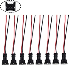 MOTOALL Fuel Injector Connector EV1 OBD1 Plug Wire Harness Pigtail Wiring Loom Clip Cut & Splice 2-Wire Female - 8pcs