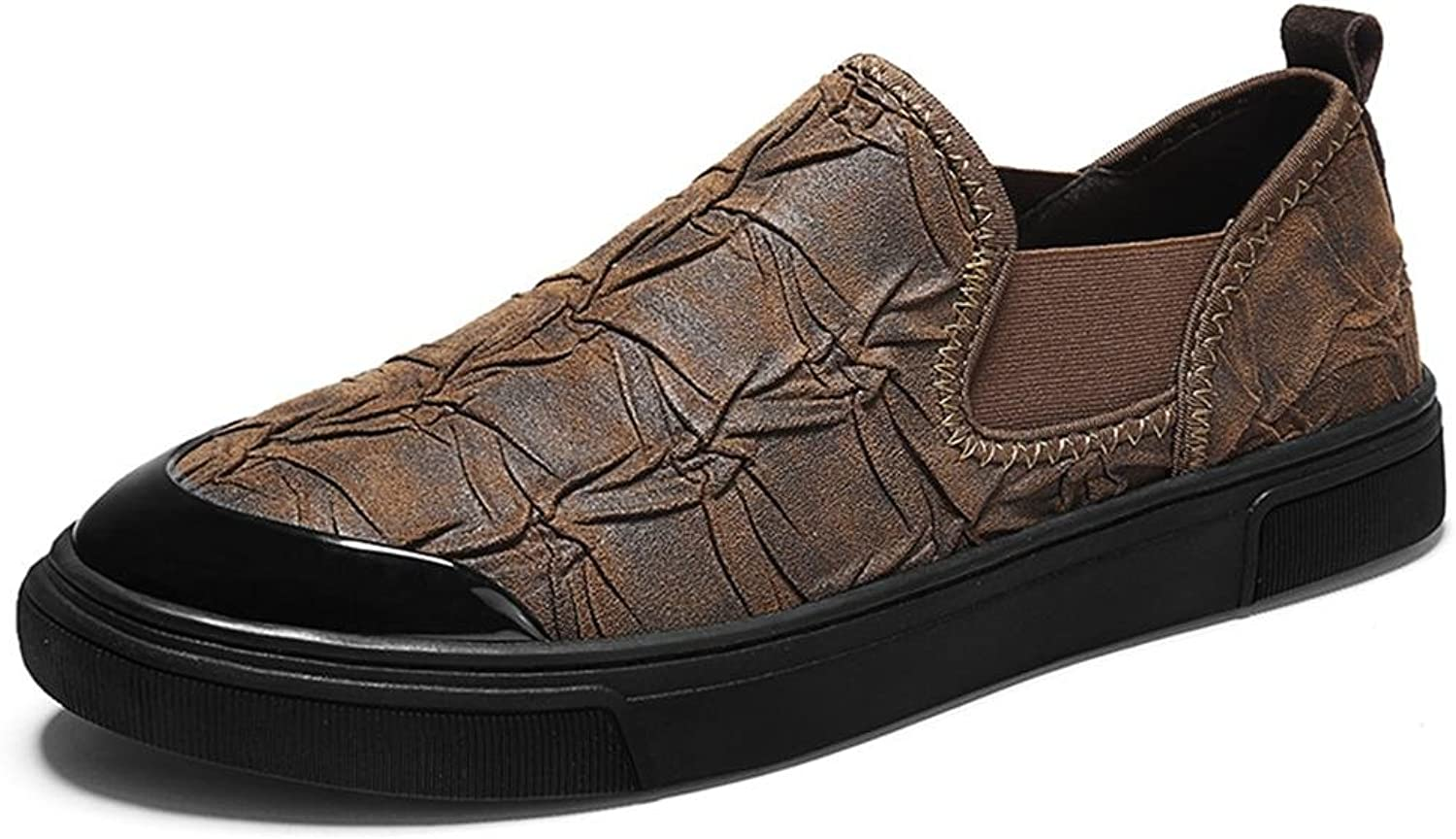 Men's Slip On Casual Loafers Leather Breathable Loafer Fashion Flats Driving shoes