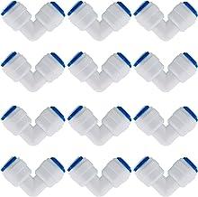 CESFONJER 12 stuks adapter fitting verbindingsstuk, RO waterfilter fitting, 6,35 mm (1/4 inch) pushfit rechte stekker voor...