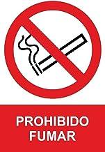MovilCom® - Adhesivo PROHIBIDO FUMAR 100x150mm Señal prohibición (ref.RD46600)