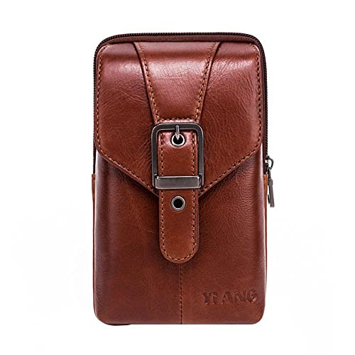 cdf6e59560f2 Vertical Genuine Leather Belt Bag - Pawaca Cellphone Holster Waist Pouch /  Phone Bag Small Travel