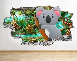 ملصق ثلاثي الابعاد لواصق حائط بطبعة كوالا بير ، روضة اطفال ، ملصق حائط من الفينيل بتصميم ثلاثي الابعاد