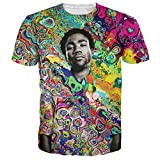 Hipster Colorful Cool Shirts Hip Hop Childish Gambino Print 3D Jersey Tshirt Swag Top Tees Beige