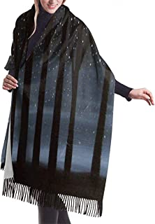 Women's Pashmina Shawl Wrap Turtles Images Winter Warm Blanket Scarf Long Poncho