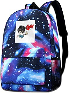 Galaxy Printed Shoulders Bag Objection L Death Note Fashion Casual Star Sky Backpack For Boys&girls