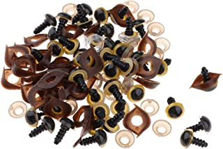 F Fityle 100-tlg Bunte Teddyaugen Sicherheitsaugen Kunststoffaugen Puppe Augen 20 mm 10 Farben 16 mm// 18 mm // 20 mm // 24 mm