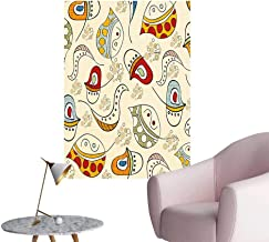 Wall Stickers for Living Room Figur Swirl Lin Curv Face Creative Funky Graphic Multicolor Vinyl Wall Stickers Print,24