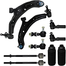 New Complete 10-Piece Front Suspension Kit for - 10-Year Warranty- Both (2) Front Lower Control Arm & Ball Joint, All (4) Inner & Outer Tie Rods, 2 Front Sway Bar, 2 Tie Rod Boot…