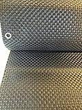 Jinju 0,9 x 2 Meter Polyrattan Sichtschutz, Balkonsichtschutz, Windschutz, Balkonblende, Garten Sichtschutz, (Silber) -