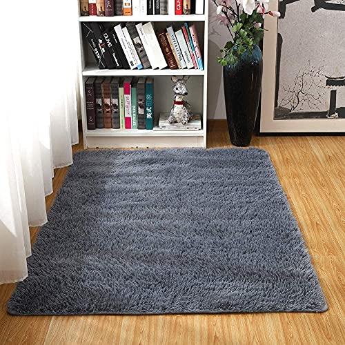 LIFANG Alfombra de área Peluda Suave Alfombras mullidas de Interior Modernas, cómodas alfombras de Sala de Estar, Alfombra de Dormitorio 60 * 120 cm