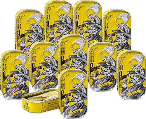 Portugiesische Sardinen in Olivenöl 10 x 125 g - Hohes Omega-3-Gehalt / Portugal