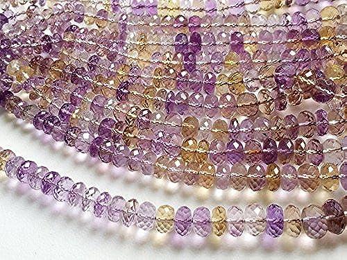 1 rang Natur Ametrin facettiert Rondelle Perlen, Ametrin Perlen, Ametrin Halskette, 5–11 , 40,6cm
