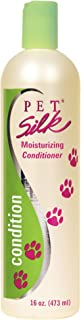 PET SILK Moisturizing Conditioner – Conditioning for Cats, Horse & Rabbits – Dog Moisturizing Conditioner with Herbal Extracts, Vitamins, Chamomile & Rosemary - Shines & Moisturizes Coat