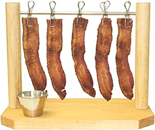 Back Bay Dining Bacon Clothesline - Reusable Wooden Display for Breakfast & Party Horderves - Creative Way to Serve Bacon & Entertain Guests