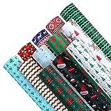 Kunstleder Stoff 12Pcs Weihnachten Schneeflocke