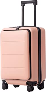 Luggage Suitcase Piece Set Carry On ABS+PC Spinner Trolley with Laptop pocket (Sakura pink, 20in(carry on))