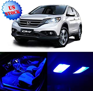 SCITOO 8Pcs Blue Interior LED Light Package Kit Replacement Bulbs Fits for 2007-2011 Honda CRV