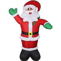 Deals on Wderni 6ft Inflatable Santa Claus w/LED Light, Water Bag & Pump