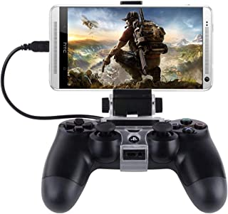 PS4コントローラー用スマホマウントホルダー,thsgrt【270度回転】PS4用コントローラクリップ PS4コントローラー専用スマホ固定ホルダ 荒野行動コントローラー Android 角度調整 装着簡単