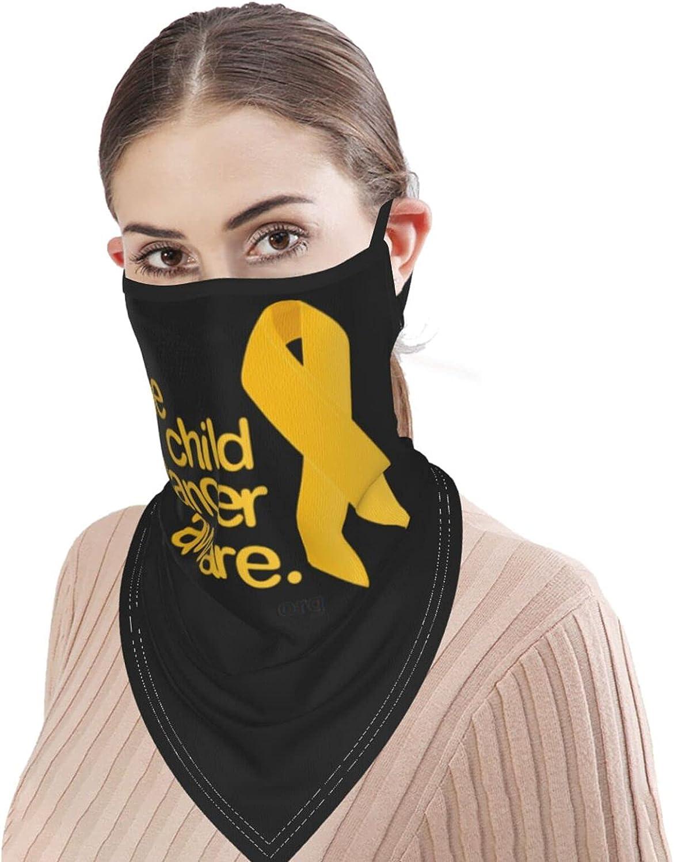 Childhood Cancer Awareness Balaclava Neck A Motorcycle Hiking Mask Men Women Neck Circumference