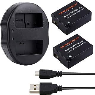 Expresstech @ 2x Reemplazo batería DMW-BLC12 BLC12 1200mAh para Panasonic GX8 DMC-GH2 DMC-FZ200 DMC-G5 DMC-G5 DMC-GH2GK FZ1000 FZ200 FZ300 FZ1000 FZ2000 FZ2500 G7 G6 G5 G5K GH2 GH2K GH2S