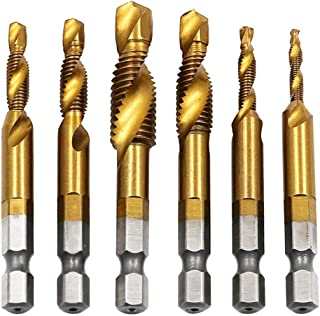 Hand Tap Drill Bits HSS 4341 Screw Spiral Point Thread M3 M4 M5 M6 M8 M10 Metalworking Machine Taps Kit Metric Plug- survival tools - door opener tool no touch -M6