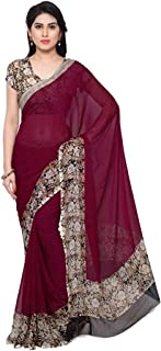 Vaamsi Women's Georgette Printed Saree