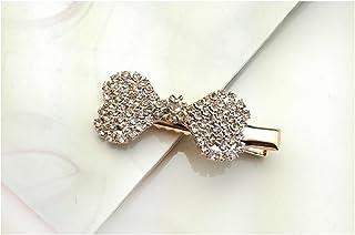 Osize 美しいスタイル 小さな弓のネクタイラインストーンヘアピンダックビルクリップブライダルヘッドジュエリー