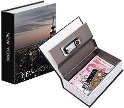 Cofre Camuflado Grande Chave Formato Livro Porta Joias Dinheiro Modelo New York
