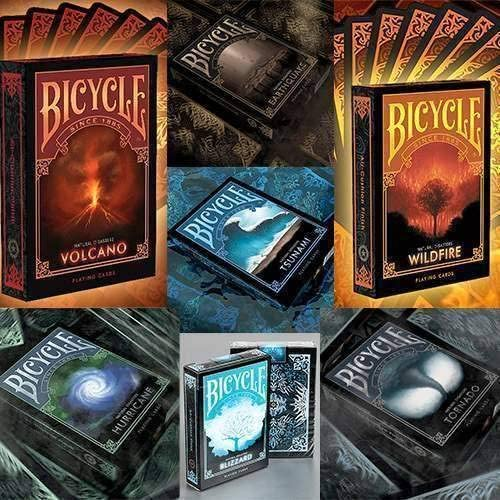 SOLOMAGIA Bicycle Natural Disasters - Complete Series 7 Decks by HOPC by Collectable Playing voitureds