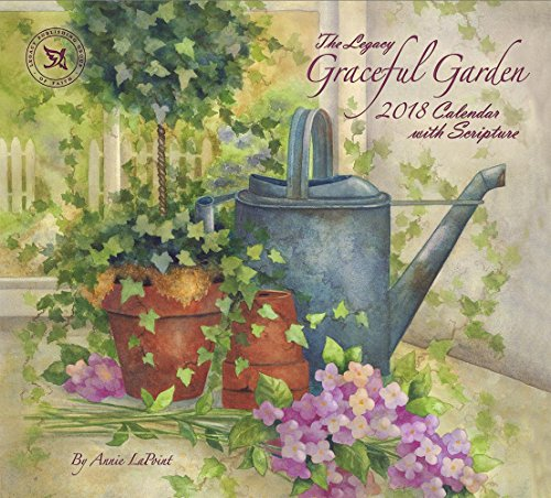Legacy Publishing Group 2018 12-Month Wall Calendar with Scripture, Graceful Garden
