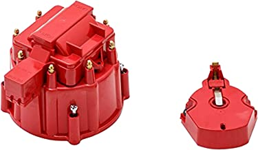 A-Team Performance CR8R HEI OEM Distributor Cap, Rotor, and Coil Cover Kit Red