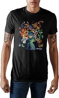 Capcom MegaMan Characters Graphic Print Men's Black T-shirt