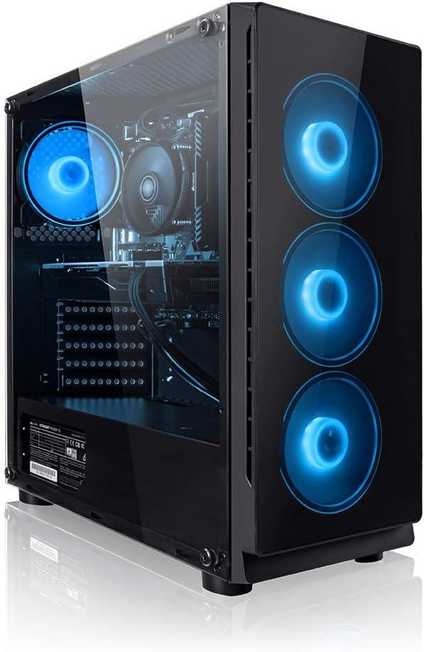 PC Gaming - Megaport Ordenador Gaming PC AMD Ryzen 5 2600 • GeForce GTX1650 4GB • 1000GB HDD • 16GB RAM • Windows 10 • PC Gamer • Ordenador de ...