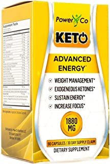 Advanced Keto Pills Utilize Fat for Energy - Best Women/Men BHB Diet Supplement Supports Ketosis, Manages Cravings, Reduces Stress - Exogenous Ketones, MCT Oil, Ashwagandha, Green Tea - 90 Capsules