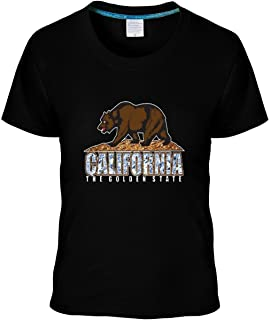 Ptrand Women's California Republic Bear Diamond Style tshirt