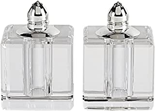 Badash - Pair of Crystal Salt & Pepper-Vitality H 2.75 in. Platinum Top