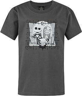 Disney Pesadilla Antes de Navidad Camiseta Jack y Sally de carbón de Boy