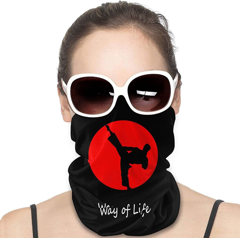 Karate Belt way of life Neck Gaiter Windproof Face Cover Balaclava Outdoors Magic Scarf Headband for Men Women Motorcycling Fishing Running Climbing