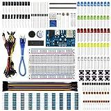 REXQualis Kit de Componentes Electrónicos con Placa de Prototipos, Resistencias, Leds, Co...