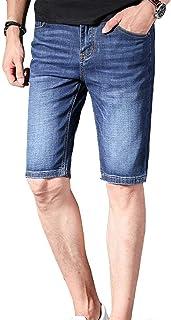 HaiDean Men's Denim Shorts Jeans Fit Trousers Regular Slim Modern Casual Style Denim Pants Summer Fashion Stretch Denim Sh...